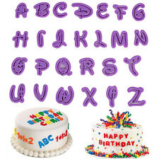 36pcs Alphabet Number Letter Fondant Icing Cutter Mold Mould Cake Decorating Kit