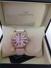 AQUASWISS MADE IN SWITZERLAND BRAND NEW WHITE LEATHER DL0781 DATE WATCH
