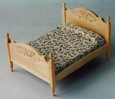 CASA delle Bambole Mobili: LUCE legno letto matrimoniale in scala 12th