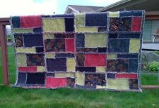 Fields of Love Rag Quilt PATTERN Unique Rag Quilt Finish and Design SHIPS FREE