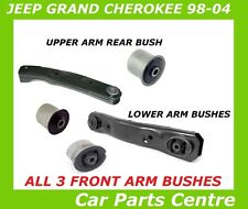 FOR JEEP GRAND CHEROKEE WJ WG FRONT LOWER UPPER CONTROL SUSPENSION ARM BUSHES