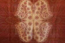 Antique Victorian Wool Paisley Shawl 19th Century