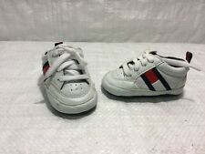 Tommy Hilfiger Flag Lace Up Baby's Crib Shoes Infant Sz 1 EUC