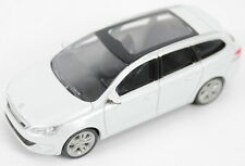 "Peugeot 308SW Estate Model Car 3"" New Genuine White 13MITR904"