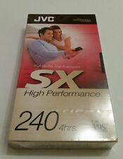 JVC : SX High Performance 240 VHS Blank Video Tape - New