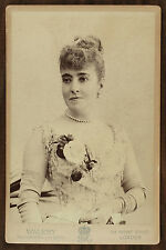 La cantatrice Adelina Patti, Opéra, Singer, Photo Cabinet card, Wallery London