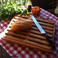 Brotschneidebrett 30cm Krümelrost Rost Brot Schneidebrett Olivenholz Holz flach!