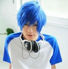 Lastest Very Soft Blue Mix Male Wig Cosplay Vocaloid Kaito Wigs New Hair w01@