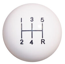 White 5 Speed shift knob M12x1.25 thread