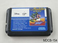 Aladdin Mega Drive Japanese Import Sega MD Genesis Japan JP US Seller B/Good