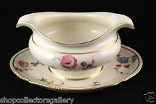 CASTLETON SUNNYVALE FINE CHINA GRAVY BOAT WITH ATTACHED UNDERPLATE - MINT