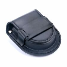 Classic Vintage Black Leather Pocket Watch Holder Storage Case Purse Pouch Bag