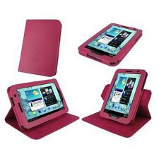 """rooCASE for Samsung Galaxy Tab 2 7"""" Dual-View Vegan Leather Case Magenta Lot C16"""