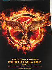 SDCC 2014 EXCLUSIVE THE HUNGER GAMES MOCKINGJAY part #1 PROMO MOVIE POSTER