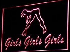 i767-r Girls Night Club Bar Beer Wine Neon Light Sign