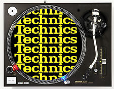 TECHNICS COLLAGE YELLOW - DJ SLIPMATS (1 PAIR) 1200's MK5 MK2 or any turntable