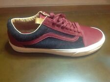 Vans, Old Skool, Reissue CA, Leather And Wool,red,black, Mens 10.5 Size Shoes