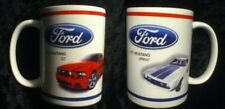 Car Lover VALENTINE Gift Two 2 FORD Logo Mustang Coffee Mugs 1972 Sprint 2014 GT