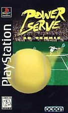 Power Serve 3D Tennis w/MANUAL GREAT Sony Playstation PS1 LONG BOX