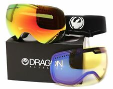 NEW 2015 Dragon APX Goggles-Inverse-Red Ion + Yellow Blue Lens-SAME DAY SHIPPING