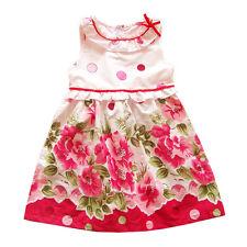 Neuf Filles Rose Floral Robe Été Soirée 18-24 Mois