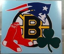 PATRIOTS, RED SOX, CELTICS & BRUINS vinyl decal