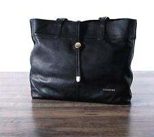 Stella & Max Leather Tote Hand Bag Shoulder Purse BLACK Top Zip 1041553 Shopper