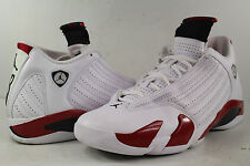 Nike Air Jordan Retro XIV Candy Cane 14 White Black Varsity Red Size 12