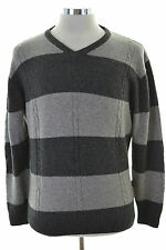 Daniel Hechter Mens Jumper Sweater Medium Grey Wool