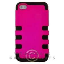 Apple iPhone 4/i4S TUFF Hybrid Case Hot Pink Cover Shell Protector Guard Shield