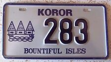 Republic of Palau 2002 KOROR MOTORCYCLE License Plate SUPERB QUALITY # 283