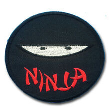 Fat Boy Ninja Patch Embroidered Iron on applique Motorcycle Japan Kawasaki Kids