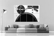 TECHNICS Dj Platine Disque Wall Art Poster Grand format A0 Large Print