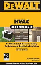 DEWALT HVAC CODE REFERENCE - NEW PAPERBACK BOOK