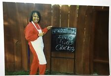 Vintage PHOTO Bar-B-Que Dinner Sale Today Sign Pay To Eat BBQ Neighbors Party