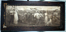 "Antique 18 1/4"" x 39"" Wooden Framed Lithograph Of Victorian Period Farm Field"