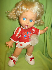 GALOOB Vintage 1990's Baby Face #2 SO SURPRISED SUZI Doll in Dress & Shoes