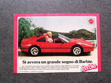 I202-Advertising Pubblicità-1988- BARBIE , MATTEL , LA FERRARI