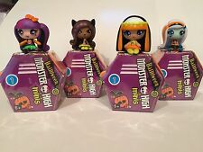 Monster High HALLOWEEN Minis Set of 4 FRANKIE DRACULAURA CLAWDEEN CLEO / VHTF