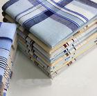 4x Mens HANDKERCHIEFS 100% Cotton Pocket Square Hanky Handkerchief 35x35cm XD