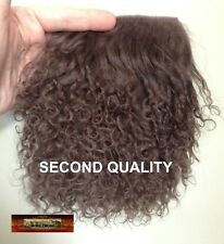 M00040 MOREZMORE Tibetan Lamb Fur MOCHA BROWN Seconds Doll Baby Hair Wig T20