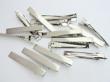 "48 Silver 2.25"" Flat Face Alligator Teeth Hair Clip/Bow Supply/clippes/New L98-A"