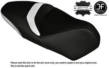 WHITE & BLACK CUSTOM FITS PIAGGIO MP3 YOURBAN LT 300 DUAL LEATHER SEAT COVER
