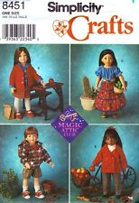 """Simplicity 8451 0680 18"""" Girl Doll Clothes Pattern Magic Attic Club Blouse"""