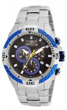 New Invicta 16065 Big Pro Diver Chronograph Black Blue Dial Steel Bracelet Watch