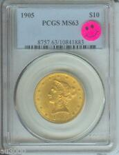 1905 $10 LIBERTY EAGLE PCGS MS63 GOLD COIN MS-63 PQ +++