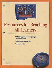 Houghton Mifflin Social Studies: Resources Research All Learn Blackline Masters