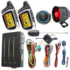 ignition start stop button auto 2 way car alarm system remote keyless entry