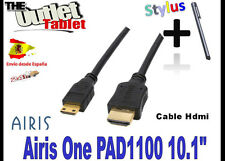 "**Cable mini hdmi a hdmi para Tablet Airis One PAD 1100 10"" El Mundo AS PAIS"