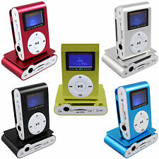 MP3 Player mit LCD Screen mit 16GB Micro SD Karte Clip-Funktion Aluminium